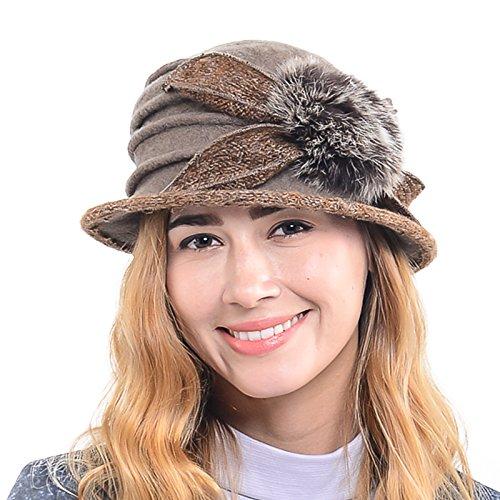 Vinta (Brown Cloche Hat)
