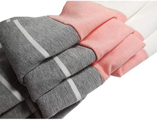 ZC&GF Women's Round Neck Color Block Stripe T-Shirt Pocket Tops Blouses