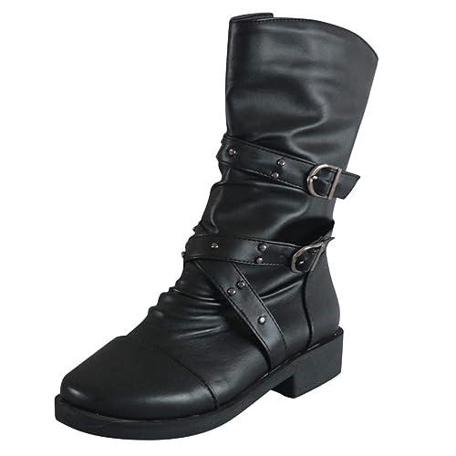 Details zu Damen Overknee Stiefeletten Stiefel Schlupfstiefel Boots Pumps Schuhe Winter
