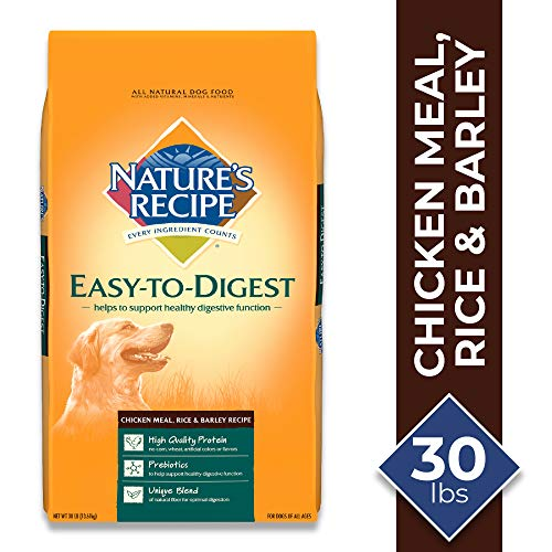 Nature's Recipe Chicken Meal, Rice & Barley Recipe Dry Dog Food, 30 Pounds, Easy to Digest