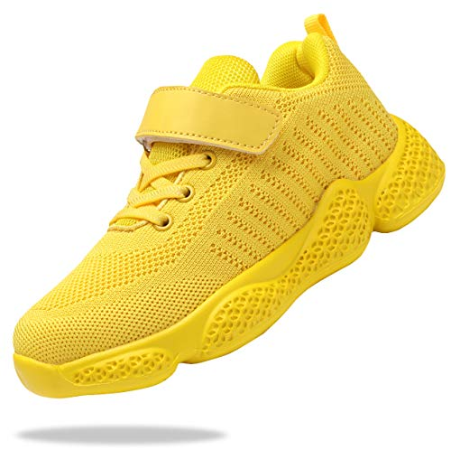 Santiro Kids Shoes for Boys Girls Breathable Knit Athletic Running Sneakers