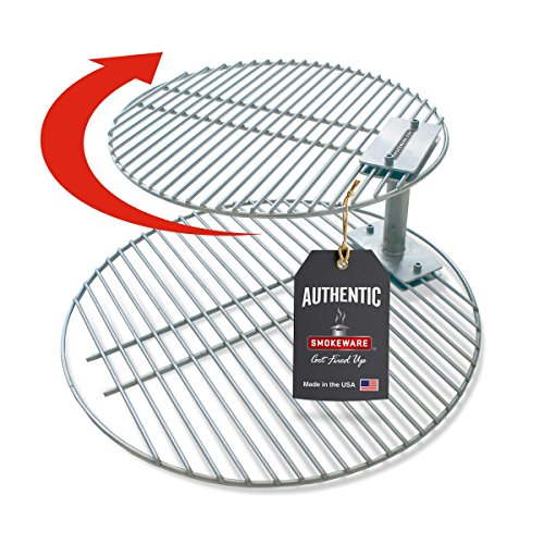 SmokeWare Stacker & Grill Grate Combo - Compatible with Large Big Green Eggs, Stainless Steel Grill Accessories