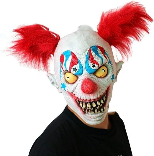 BHDYHM Payaso Máscara Máscara Horror Payaso Joker Máscara ...
