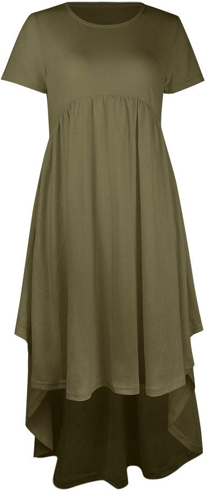 Allence Umstandskleid, Kleidung Damen Mutter Einfarbig