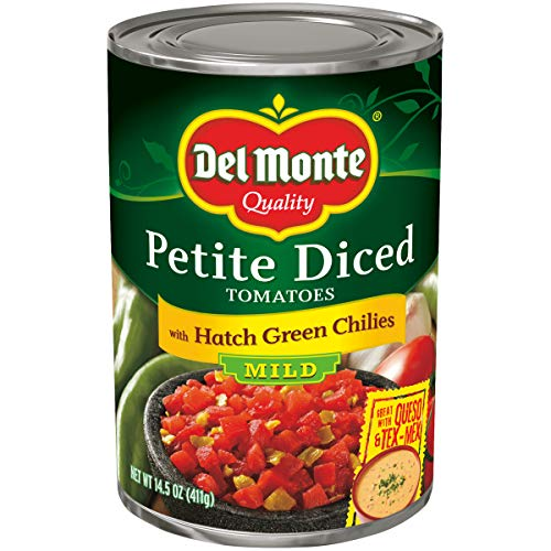 (Del Monte Tomato with Diced Green Chili, 14.5-Ounce Packages)