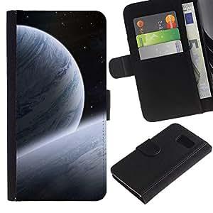 EJOY---La carpeta del tirón la caja de cuero de alta calidad de la PU Caso protector / Samsung Galaxy S6 / --Espacio Planet Galaxy Estrellas 30