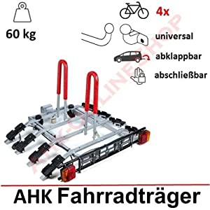 AHK - Remolque trasero para 4 bicicletas
