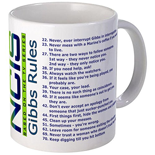 CafePress List Of Gibbs Rules Blue/Green Mugs Unique Coffee Mug, Coffee Cup