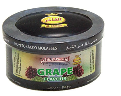 Al Fakher Herbal Shisha Grape Hookah Shisha Molasses Al Fakher 200gr Jar