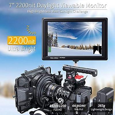 Feelworld FW279 7 Pulgadas Ultra Brillante On Cámara Field Monitor ...