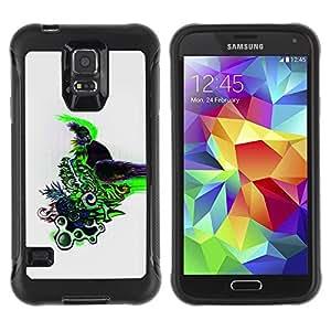 LASTONE PHONE CASE / Suave Silicona Caso Carcasa de Caucho Funda para Samsung Galaxy S5 SM-G900 / Color Abstract Design Pattern Draw