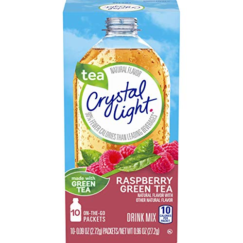 - Crystal Light Raspberry Green Tea Drink Mix (120 On the Go Packets, 12 Canisters of 10)