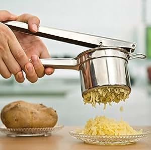 Stainless Steel Potato Masher Ricer Puree Fruit Vegetable Juicer Press Maker New.