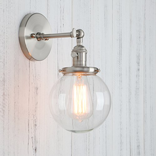 Permo Vintage Industrial Wall Sconce Lighting Fixture with Mini 5.9