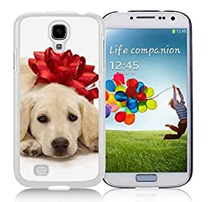Customization Christmas Dog Of Decorate Flower Durability White TPU Case For Samsung Galaxy S4,Samsung I9500