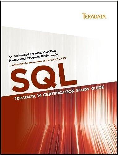 Amazon.in: Buy TERADATA 14 CERTIFICATION STUDY GUIDE: SQL Book ...