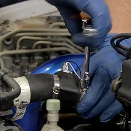 BEESCLOVER 28-40MM Water Temp Temperature Joint Pipe Sensor Gauge Radiator Hose Adapter 38mm