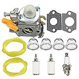 weed eater spark plug - HIPA Carburetor + Fuel Line Filter Spark Plug for Ryobi RY29550 RY30530 RY30550 RY30570 RY30931 RY30951 RY30971 String Trimmer RY09600 RY09701 Leaf Blower RY52504 RY52905 Pole Pruner