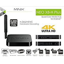MINIX NEO X8-H PLUS X8H Android 4.4 Smart TV Box 4K 3D Blu-ray ISO Streaming Media Player Mini PC Amlogic S802-H Quad Core Cortex A9r4 Processor 2G/16G 2.4GHZ/5.8GHZ Dual Band Wifi XBMC True Dolby&DTS+Free A2 Air Fly Mouse