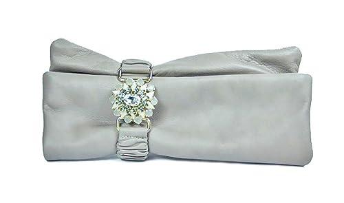 Argento Antico by Laino Industry Borse donna Collezione Borsa in pelle con  accessorio gioiello e1ac60a1750