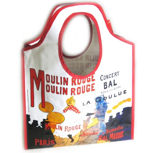 Shopping bag Lautrec - Moulin Rougerosso beige.