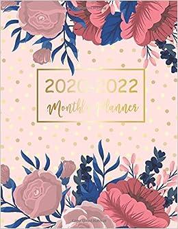 2020-2022 Monthly Planner: Elegant Flower Cover | 2020-2022 ...
