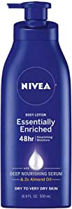 NIVEA Essentially Enriched Body Lotion,Dry to Very Dry Skin, 16.9 Fl Oz, Package may vary