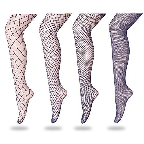 (FLORA GUARD High Waist Tights Fishnet Stockings, High Waist Sexy Fishnets Pantyhose (Blue))