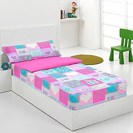 Saco nordico con relleno Kiss para cama de 90 cm: Amazon.es: Hogar