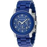 Michael Kors Blue Polyurethane Chronograph Blue Dial Men's Watch #MK8104