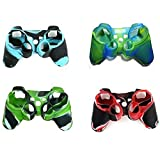 Hipipooo 4 Pack of High Quality Premium Super Grip Silicon Protective Skin Case Cover for Sony Playstation 3 PS3 Remote Controller For Sale