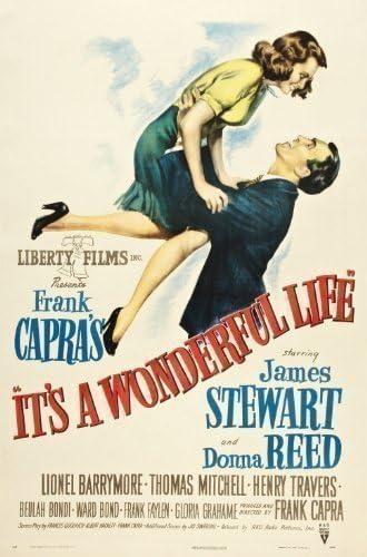 ITS A WONDERFUL LIFE VINTAGE MOVIE POSTER FILM A4 A3 ART PRINT CINEMA