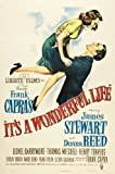 """Large Vintage 1946 Movie Poster """"ITS A WONDERFUL LIFE"""" with James Stewart & Donna Reed"""
