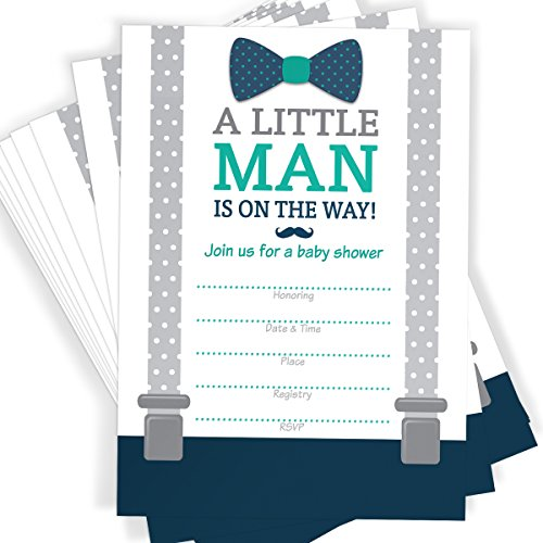 Little man themed baby shower invitations bow tie mustache and baby shower invitations bow tie mustache and suspenders 25 invitations with envelopes free shipping free shipping filmwisefo
