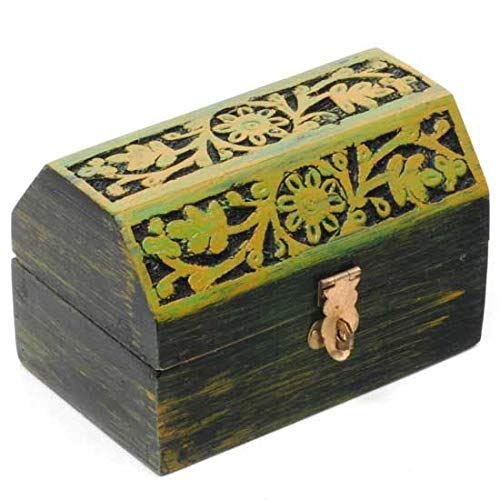 Song of India Mango Wood Carved and Hand Painted Box 5