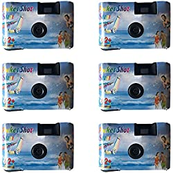 (6-Pack) Mini Disposable Camera 35mm Film One Time Single Use Vintage 15Exp