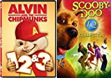 DVD : Scooby-Doo 1 & 2 Collection + Alvin & The Chipmunks 1/2/3 DVD Family Movies Monsters Unleashed DVD Kids animated