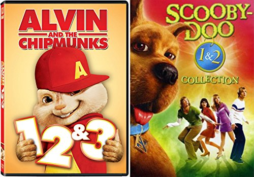Scooby Doo Double Pack - Scooby-Doo 1 & 2 Collection + Alvin & The Chipmunks 1/2/3 DVD Family Movies Monsters Unleashed DVD Kids animated