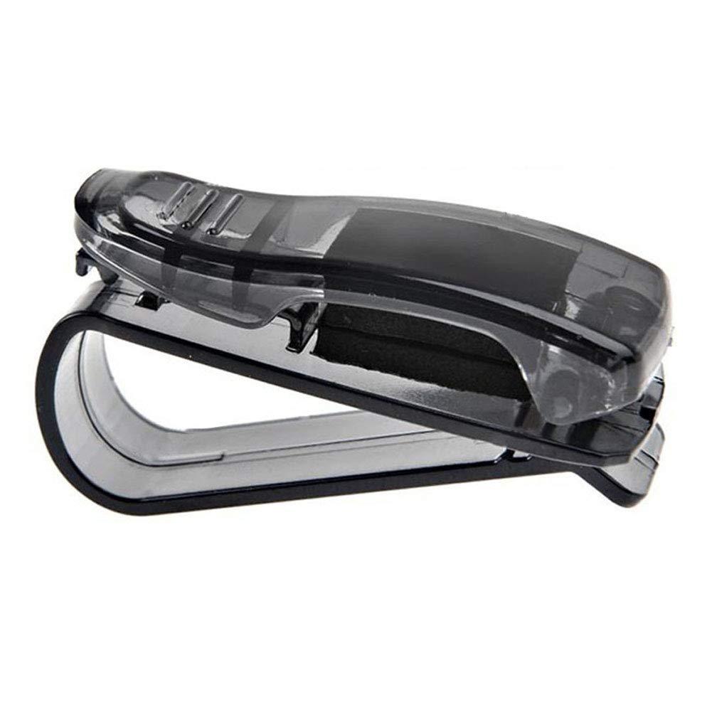 ZOOENIE 2 Pack KFZ Auto Brillenhalter Sonnenbrillenhalterung f/ür LKW Sonnenblende Brillenablage Halter Clip Brillenfach Karteneinschub Universal Sonnenbrille Halter