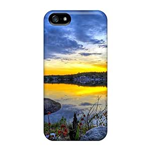 Flexible Back Case Cover For Iphone 5/5s - An Evening At The Lake