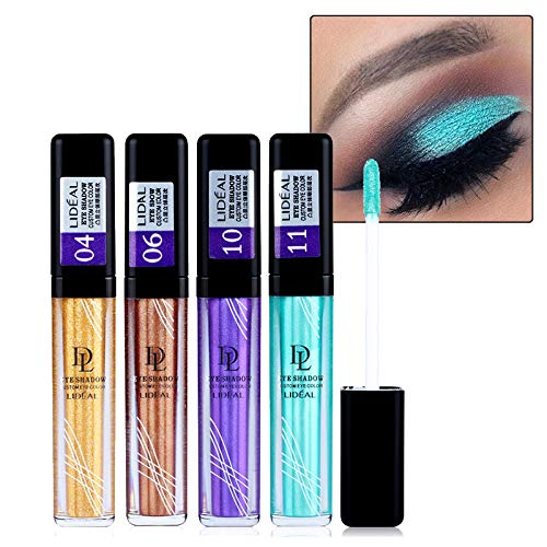 Makeup Long Lasting Waterproof Pigments Eyeshadow Glitter Make Up Eye Shadow Liquid Shimmer Stickers by YHDBH (Image #2)