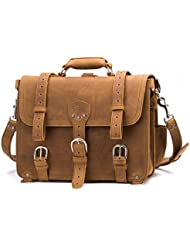 Saddleback Leather Classic Briefcase - The Original 100% Full Grain Leather Executive Briefcase Bag with 100 Year...