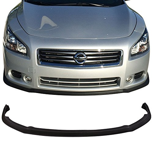 (Front Bumper Lip Fits 2009-2015 Nissan Maxima   CS Style PU Black Front Lip Spoiler Splitter by IKON MOTORSPORTS   2010 2011 2012 2013)