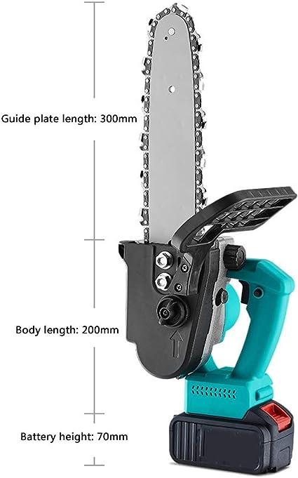 A Ramo dalbero Giardino Laecabv Mini Motosega Elettrica 8-Inch Sega a catena con una mano Cordless Miniatura Motosega da Potatura con 2Pcs 3.0Ah Litio Batteria per Taglio legno
