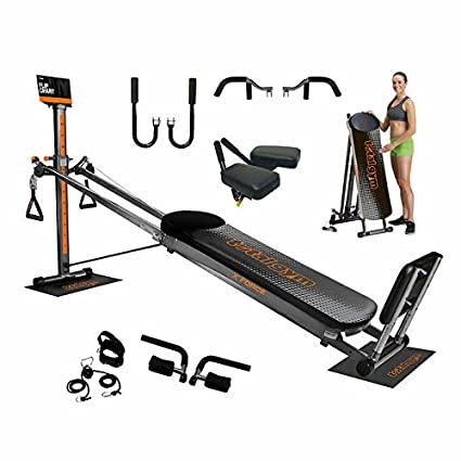 Amazon total gym xl force home gym with workout dvds folds