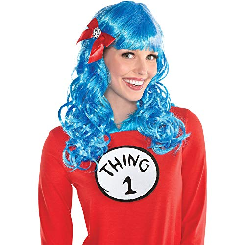 Costumes USA Curly Dr. Seuss Thing 1 and Thing 2 Wig -