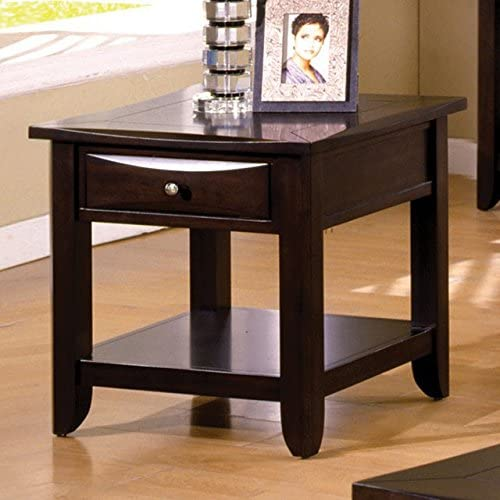 Best living room table: Baldwin Espresso Wood End Table