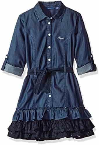 GUESS Big Girls' Button Front Denim Dress