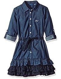 Big Girls' Button Front Denim Dress