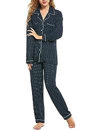 Christmas Pajama Set Women's Long Sleeve Sleepwear Soft...